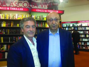 Con Luciano Moggi alla Mondadori a Torino